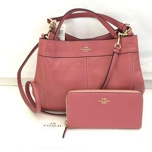 💦🌸coach Satchel set🌸 crossbody & wallet